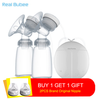 New Upgrade version Double electric breast pumps Free two Nipple Powerful Suction DIY USB breast pump with baby milk bottles