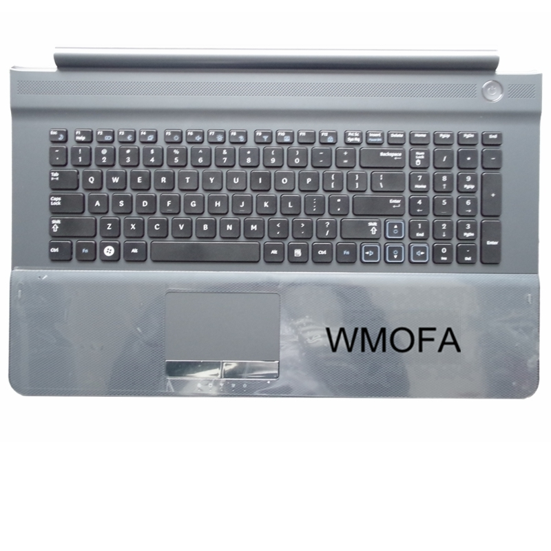 US For SAMSUNG NP RC710 RC711 RC720 Replace laptop keyboard with C shell New English Black button gray border us black new english replace laptop keyboard for dell latitude z600