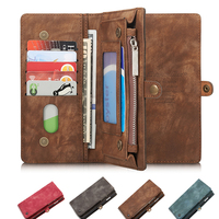 Case For IPhone 7 Plus Wallet Pouch For IPhone 5 5 Genuine Leather Card Slot Luxury
