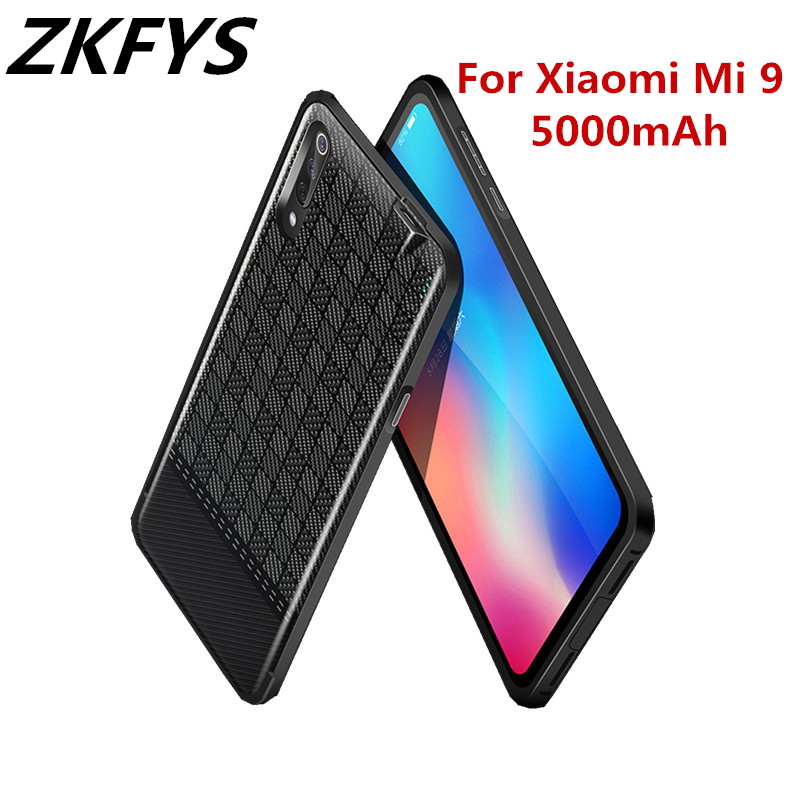 ZKFYS 5000mAh Ultra Thin Fast Charger Battery Cover For Xiaomi Mi 9 Charging Case Portable High Quality Power Bank