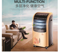 Remote control Air cooling fan cold air humidification refrigeration mobile cooler water cooling fan 360D 3 gears