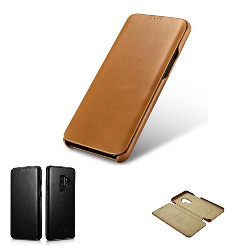 Image 5 - iCarer for Samsung Galaxy S10 S10  S9 S9  Plus Note8 Note 9  Curved Edge Vintage Series Genuine Leather Casefor samsung  galaxyleather casecase leather
