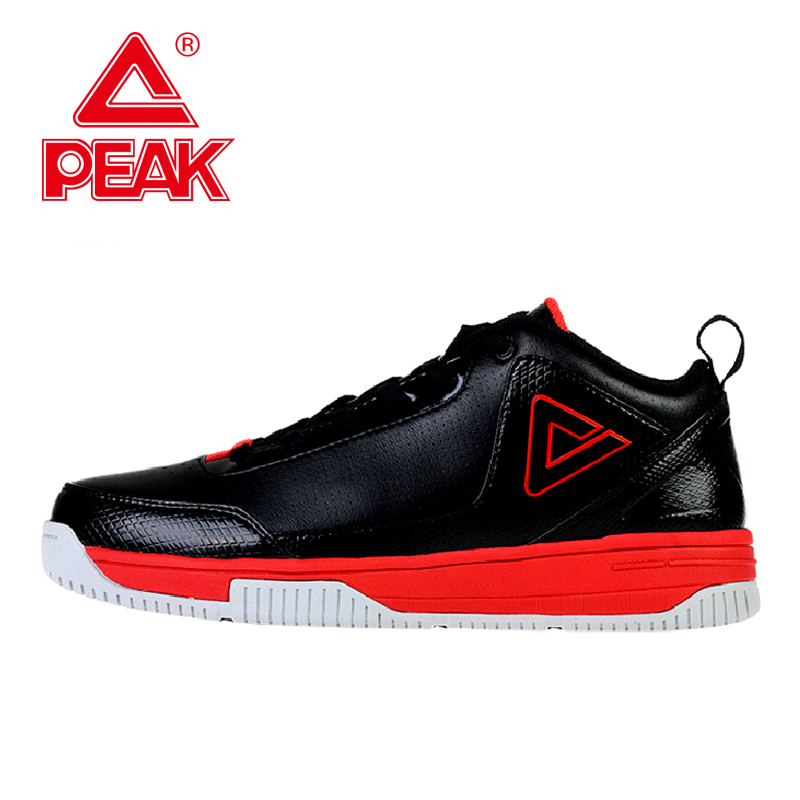 PEAK SPORT New Men Basketball Shoes Shock Absorption Non-Slip Breathable Sports Shoes Classel Types Athletic Training Sneakers peak sport star series george hill gh3 men basketball shoes athletic cushion 3 non marking tech sneakers eur 40 50