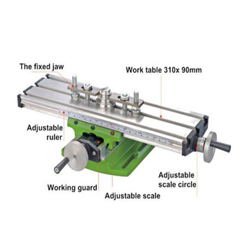 310*90mm Multi-function Cross table For Milling Machine  Lathe Mini Table Bench Drill Milling Machine Cross Assisted Positioning