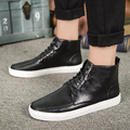 2016 Men Fashion Ankle Boots Genuine Leather Men Winter Boots Comfortably British Style Motorcycle Boots High Quality