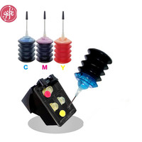 Refillable Cartridge Replace for HP 135 135XL color Refill Ink Photosmart C4140 C4150 C4170 C4173 C4175 C4180 C4183 C4188 C4190