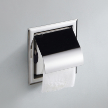 Из нержавеющей стали для ванной Tissue Box Настенные площадь встроенных хромированная отделка держатель туалетной бумаги для ванной Аксессуары