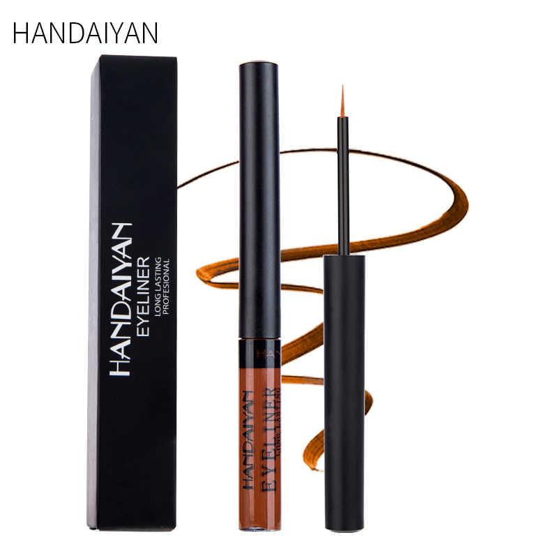 Handaiyan 1 PC Matte Liquid Eyeliner Thoáng Chống Nước Mắt Liner Pencil Nâu Tím Màu Trang Điểm Mỹ Phẩm Dụng Cụ TSLM2