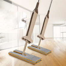 Cheapest prices Saingace New Double Sided Non Hand Washing Flat Mop Wooden Floor Mop Dust Push Mop Home Cleaning Tools Drop Shipping 70905