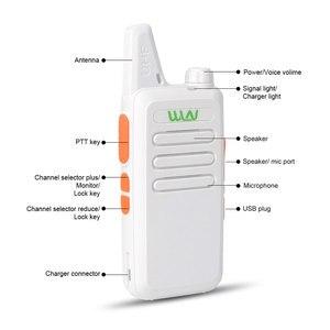 Image 5 - 2pcs wln kd c1 מיני רדיו UHF 400 470 MHz 5W 16 ערוץ מיני כף יד משדר רדיו לציד