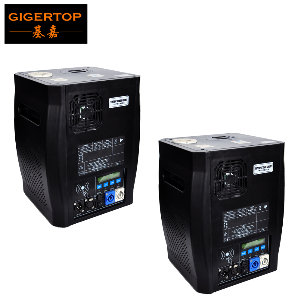 Gigertop 2 Unités Sparkular 2-5 M DMX 512 Fontaine Stade Froid Spark Machine Feux D'artifice LCD Display Power DANS /Prise de SORTIE