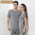Pijama casa de verão curto-shorts homens e mulheres modelos finos de mangas compridas modal pijamas ternos de roupas de algodão para casa pode usar