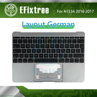 Tested A1534 keyboard German with topcase Top Case For Macbook 12 inch Retina A1534 Palmrease GR Keyboard 2016 2017 Space Grey