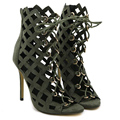 Sexy cross strap high heels sandals shoes pumps Gladiator Sandals Women high-heeled rome sandals big size 40