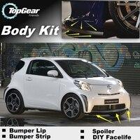 For TOYOTA iQ For Scion iQ For Aston Martin Cygnet Front Bumper Lip / Spoiler For TG Car Tuning / TOPGEAR Body Kit / Strip Skirt