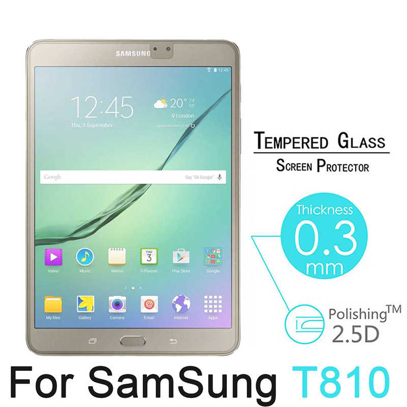 HD Tempered Glass For Samsung Galaxy Tab S2 9.7 inch T810 T813 T815 T819 Tablet Screen Protector Premium Protective Film 9H 2.5D tempered glass for samsung galaxy note 10 1 n8000 n8010 tablet screen protector film premium for samsung note 800 glass film 9h