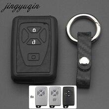 Etui clés de voiture jingyuqin en Silicone carbone pour Toyota Estima Alphard Vellfire 2/3/4/5 boutons à distance