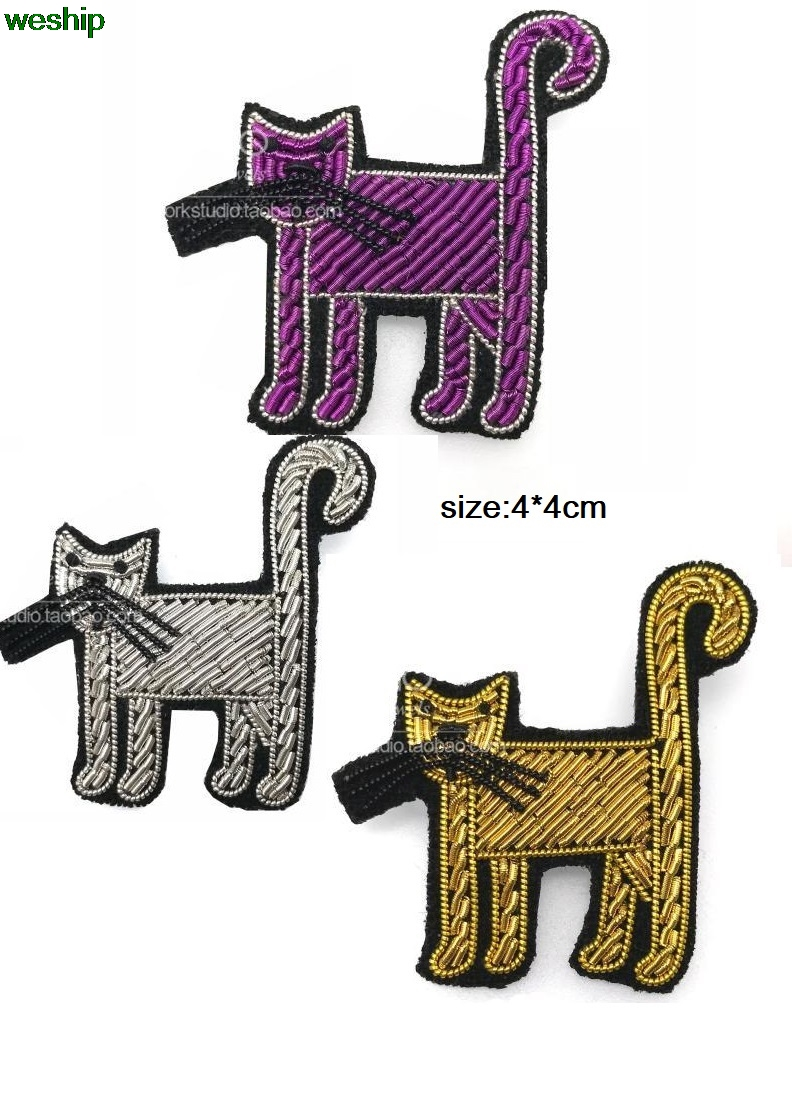 DIY New 3D Hand embroidery badges Cats / animal Armband Embroiderd ...