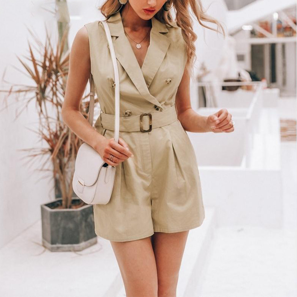 New Women Summer Fashion Lady Sexy Casual Daily Camisole Rompers Leopard High Waist Short Playsuit   Jumpsuit   W422
