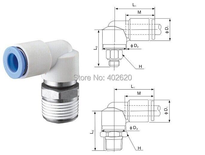 free shipping Pneumatic KSL04-M6 4mm OD(outer diameter) Tube M6 X 1.0 screw thread ELBOW Connector series KS NEW ksl macon 4