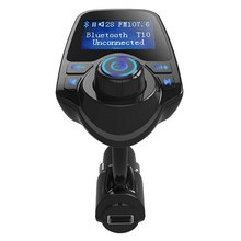 T10 10 – 24V Hands-free Call Bluetooth Car V3.0 + EDR Version FM Transmitter MP3 Music Play  Support AUX Input Universal