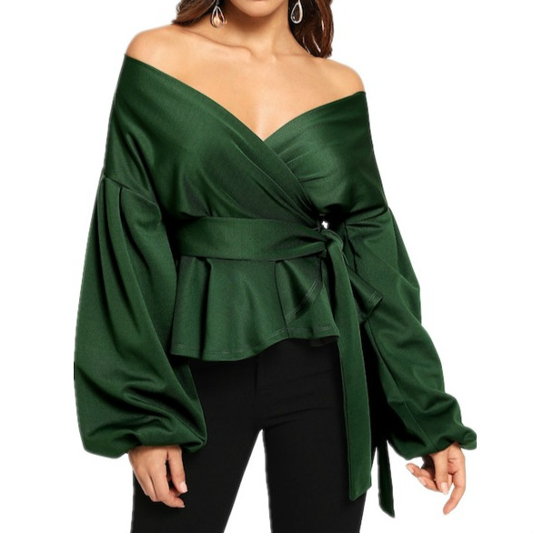 2019-Brand-New-Women-Blouse-V-neck-Lantern-Sleeve-Belted-Peplum-Shirts-Plus-Size-Off-Shoulder.jpg_640x640