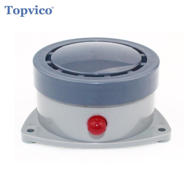 Topvico Drahtlose Wasserüberlauf Leckage Alarm Sensor Detektor 110dB Stimme Allein Wasser Alarm Home Security Alarm System