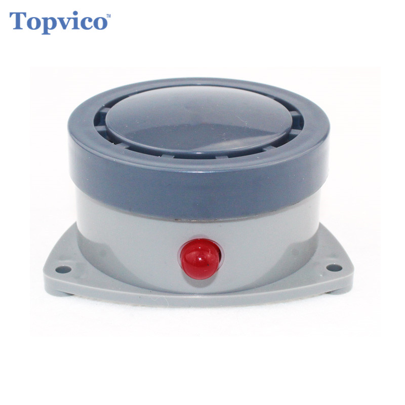 Topvico Wireless Water Overflow Leakage Alarm Sensor Detector 110dB Voice Work Alone Water Alarm Home Security Alarm System