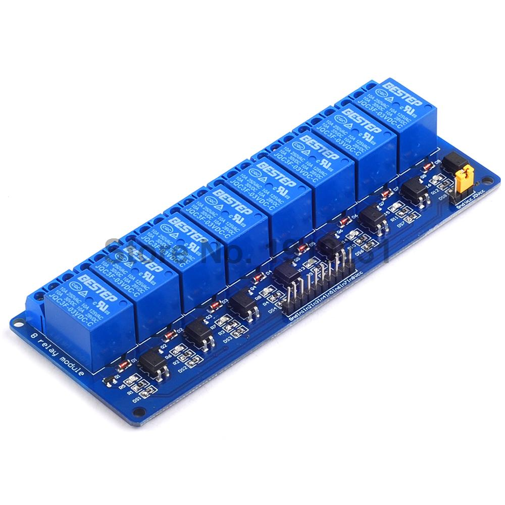 цена на 1PCS 3.3V 8 Channel 3V Relay Module Optocoupler Isolation Low Level Trigger Relay Module