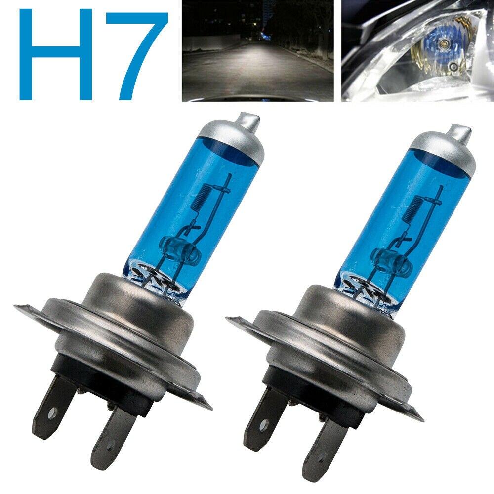 2 x H7 499 BULB HOLDER FOR HALOGEN HEAD LIGHT BULBS 477 CAR AUTO VAN 2 PIN