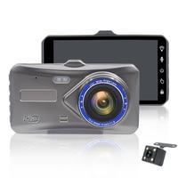 Original 4 inches HD 1080P Car DVR Touch Screen Dual Lens Vehicle Dash Cam G sensor Driving Recorders Night Vision