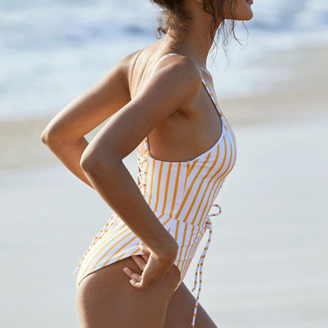 MUQGEW One Piece Swimsuit 2018 Sexy Swimwear Women Bathing Suit Swim Vintage Summer Beach Wear Printed Bandage Monokini Swimsuit 3