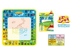 New Come Promotion/Freeshipping 35CM*38CM RUSSIAN LETTERS IN MAT Drawing Mat&1 Magic Pen/Water Drawing Replacement Mat