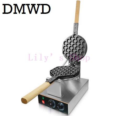 DMWD Electric Chinese eggettes waffle maker puff iron Hong Kong bubble eggs machine cake oven Commercial 110V 220V EU US plug