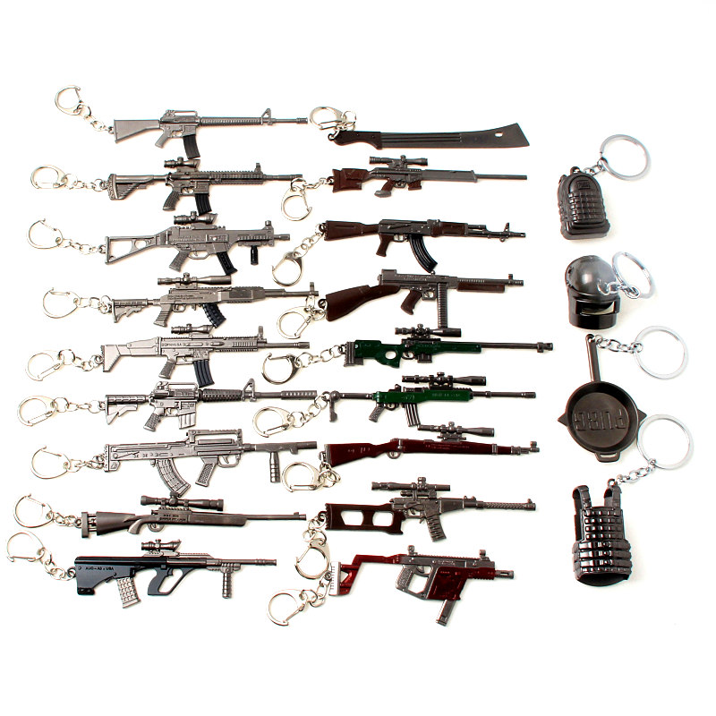 Hot Game M16 Novelty Counter Strike Gun AK47 Keychain Pendant Trinket M4A1 Sniper Key Chain Jewelry Souvenirs Gift
