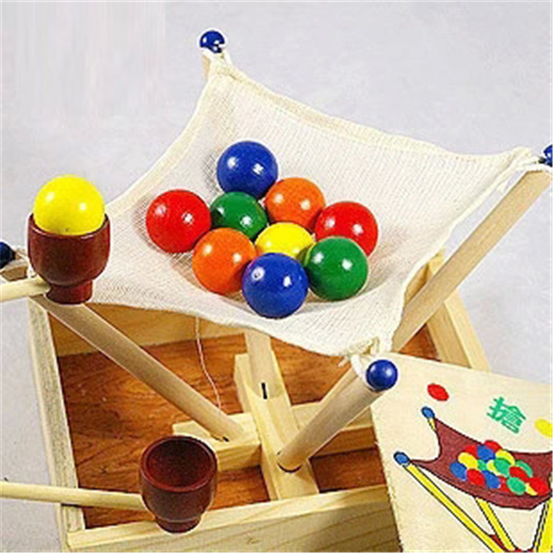 Wooden Box Grab The Ball Competition Children Educational Toys Scoop Ball Game Kindergarten Game Game Products Creative Products