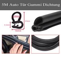 5 M Black Car Edge Protector U shaped Rubber Auto Door Noise Insulation Anti Dust Soundproof Sealing Strips Trim