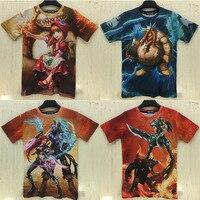 핫 게임 t 셔츠 LOL Gragas/Tryndamere/Ryze/망명 Riven 있습니다/애니 전체 고품질 인쇄 T 셔츠 AC40