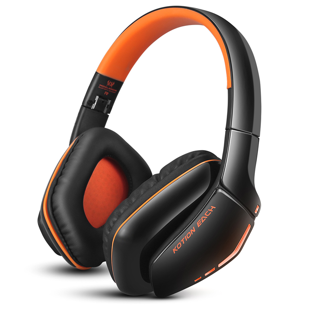 KOTION EACH B3506 Gaming Headset Wired Wireless Bluetooth 4.1 Professional Gaming Headphones Earphone Headband Gamer kotion each b3506 foldable bluetooth 4 1 gaming headsets with mic black orange