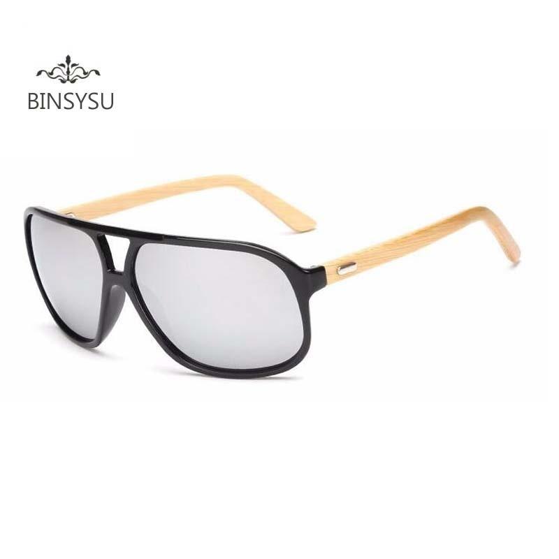 mode overdimensioneret bambus solbriller mænd kvinder mærke - Beklædningstilbehør - Foto 1