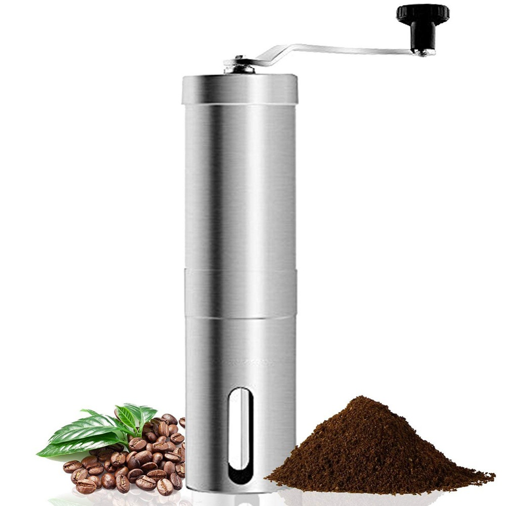 Portable Travel Manual Coffee Grinders for camping hiking Coffee Bean Mills Stainless steel Coffeeware Kitchen Dining Bar tools Manual Coffee Grinders Home & Garden - title=