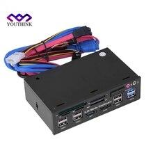Все в одном 5.25 дюйма Media Dashboard Передняя Панель USB3.0/2.0 HUB ESATA SATA Аудио нескольких карт поддерживает M2/TF/SD/MMC/MS/cf