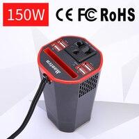 Car Styling Power Inverter 12V 220V 110V AC to DC Converter Adapter Car Inverter Pure Sine Wave 6.2A 4 USB Charger US EU Plug