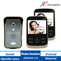 Portable 2.4G Wireless Portier Visiophone Timbre Inalambrico Video Doorbell Door Camera of Peephole With TWO 3.5 Inch Monitors