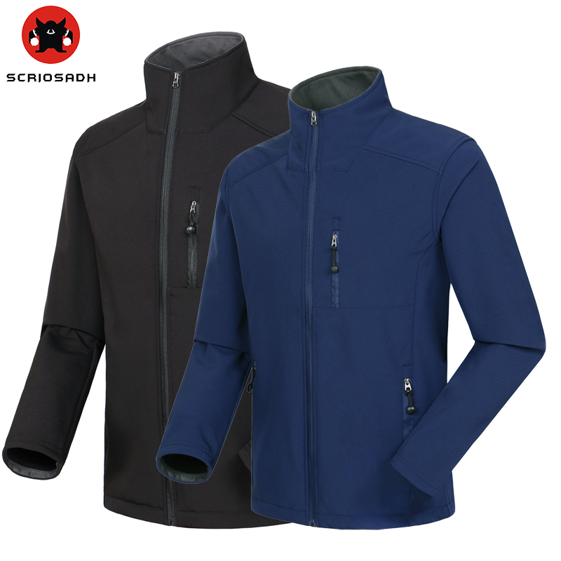Men Soft shell Outdoor Coat Waterproof Windproof Jacket Breathable Keep Warm Jacket Outdoor Camping Climbing Jacket