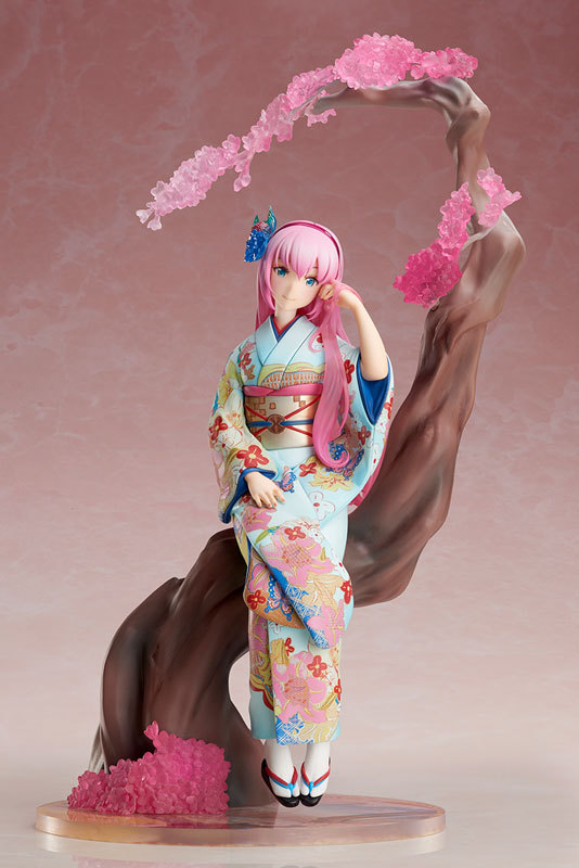 Anime Kimono sakura Ver Megurine Luka Beautiful Statue Girls PVC Figure Toys okimono kimono
