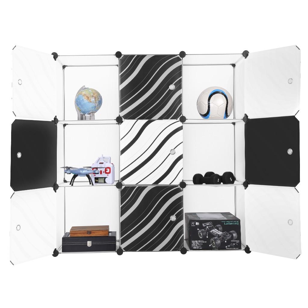 langria 9 cube translucent white interlocking modular storage organizer shelving system closet. Black Bedroom Furniture Sets. Home Design Ideas