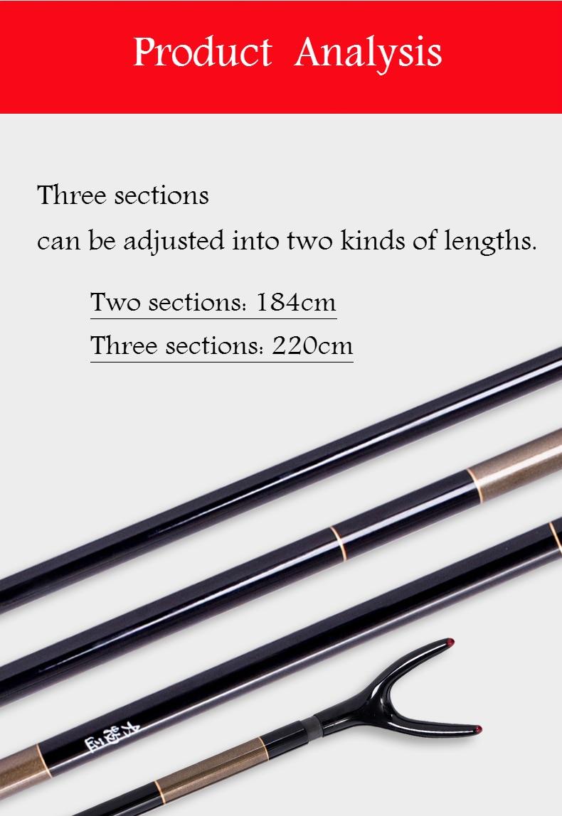 taiwan vara de pesca ferramenta de fibra de carbono enfrentar