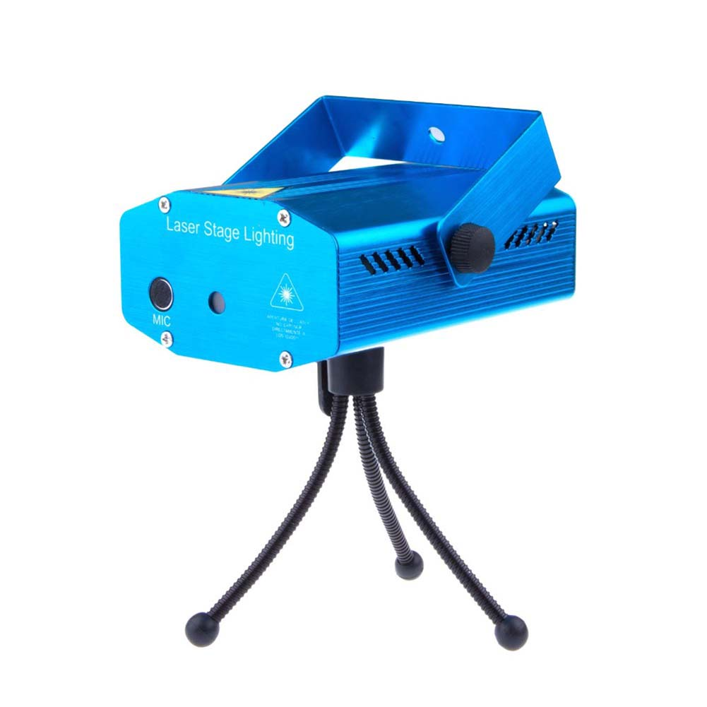 TSLEEN Mini LED Laser Projector Stage Light DJ Disco Bar House Florid Lighting Kit multi-types led light home wedding club lamp rg mini 3 lens 24 patterns led laser projector stage lighting effect 3w blue for dj disco party club laser