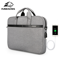 Kingsons Waterproof High Quality Laptop Briefcase Air Bag Shockproof 12-15 Inches Choices Business Notebook Handbag Unisex